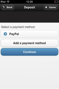 A screenshot showing paypal as the selected payment method